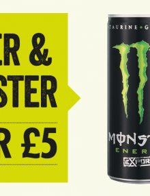 Jager and Monster- Only 2 for £5